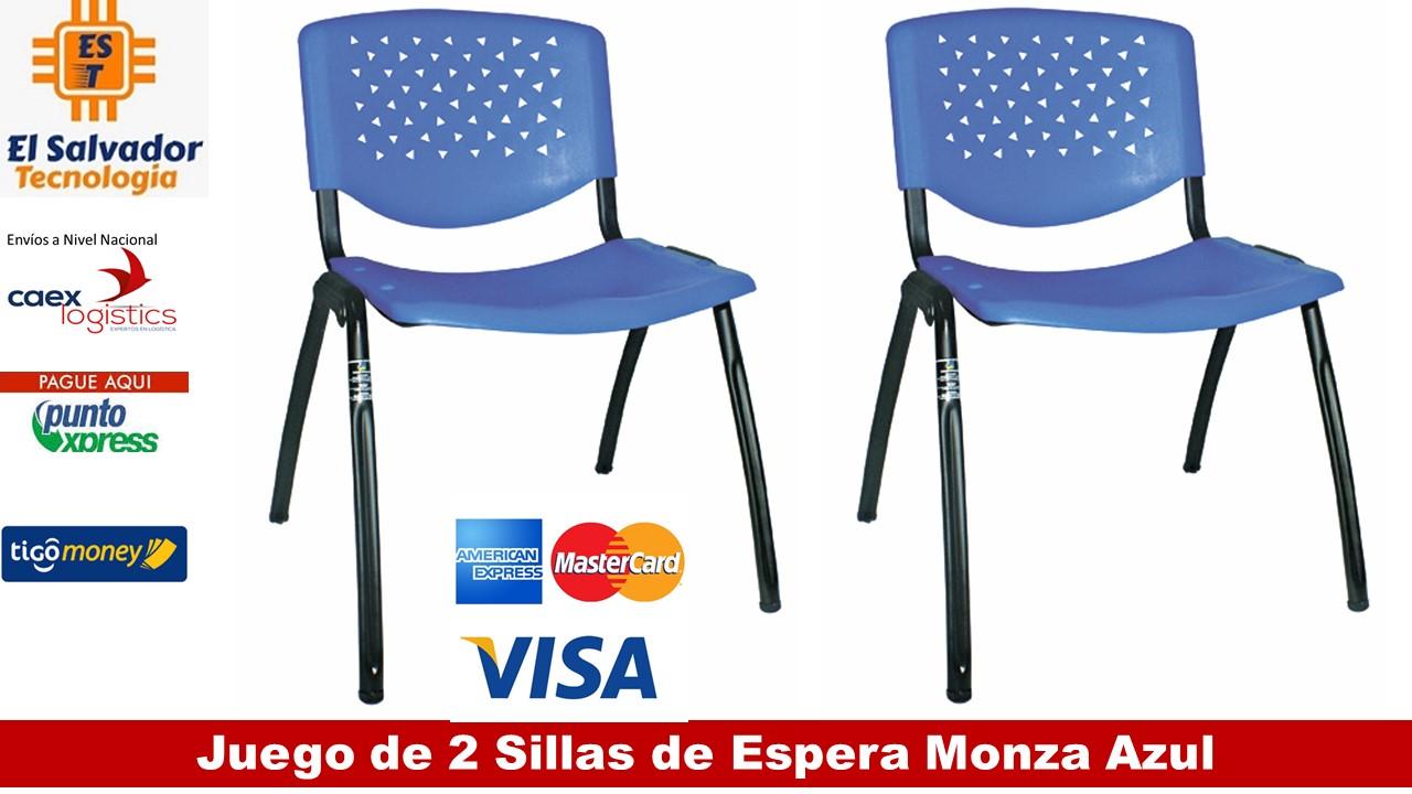 El Dos Color Azul Kit Para Oficina Espera Monza De Sillas OP8wkn0